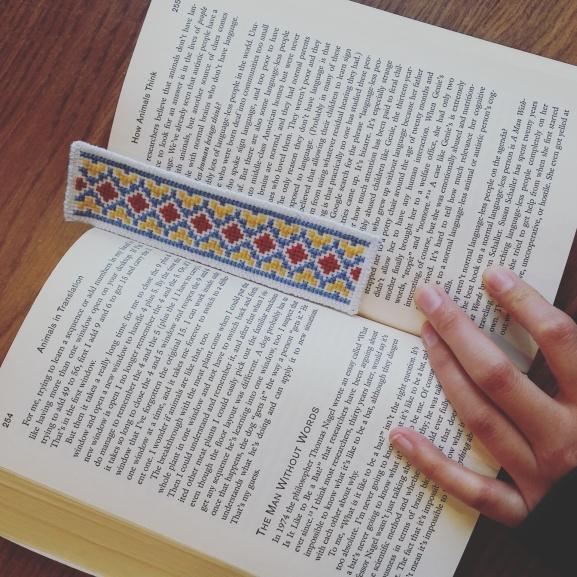 paj ntaub bookmark