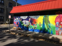 We Are The River mural - left side - photo courtesy of Olivia Levins Holden